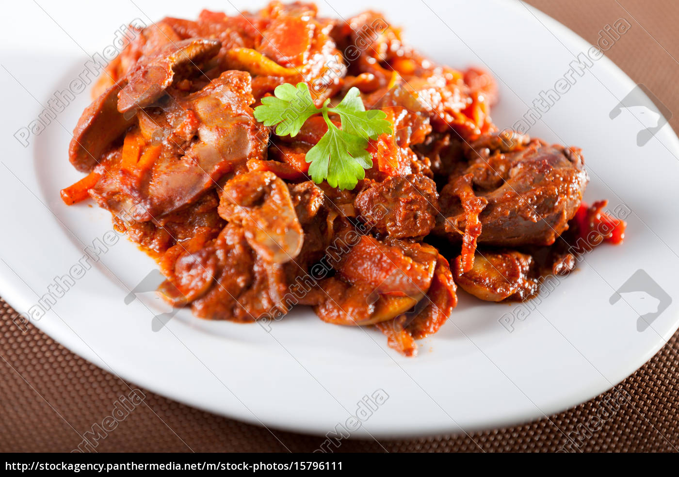 chicken, livers, with, tomato, sauce, chicken, livers - 15796111