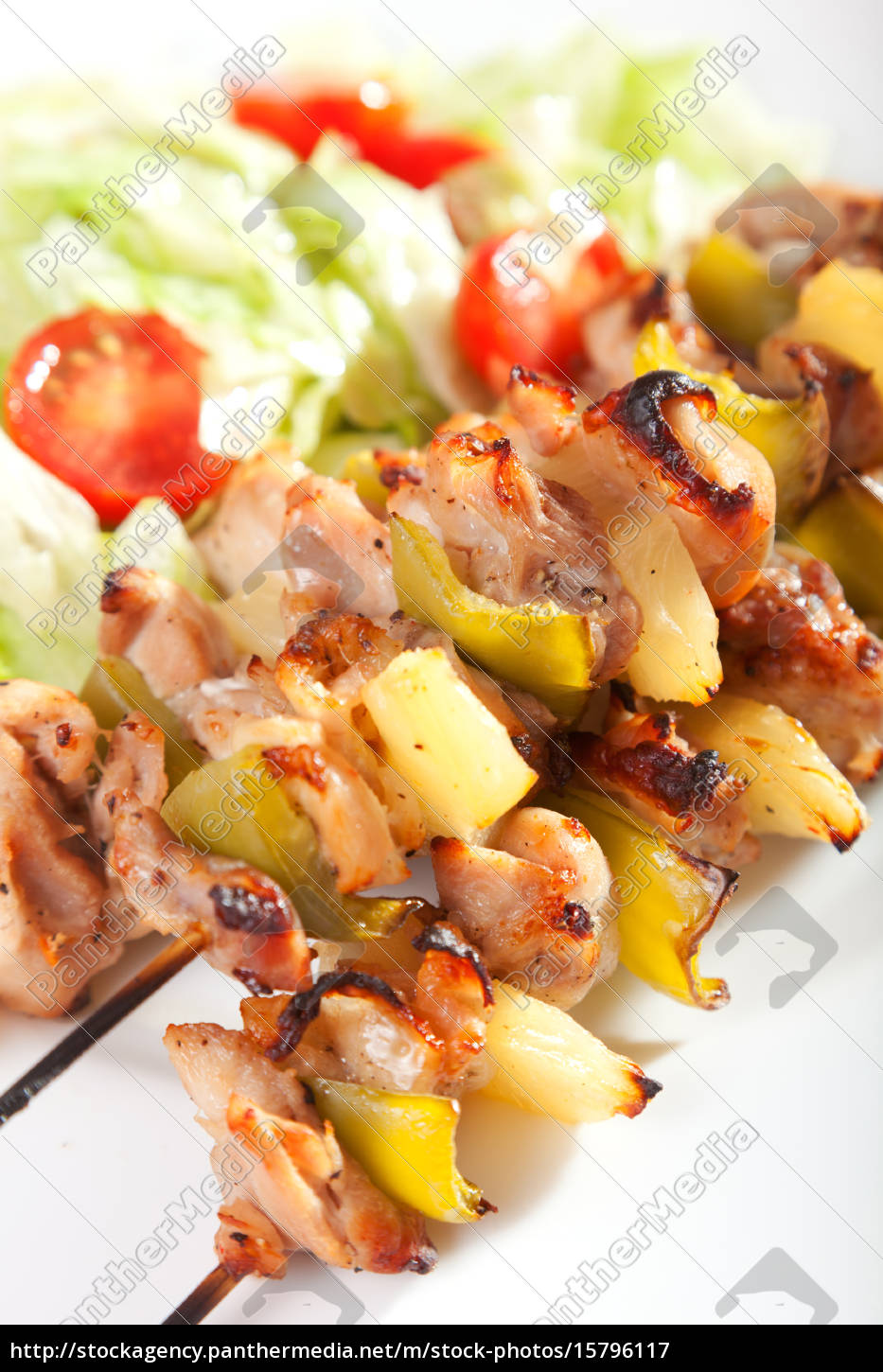 chicken, skewer, with, pineapple, chicken, skewer, with - 15796117