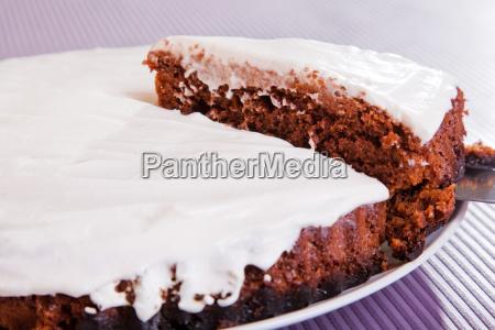chocolate, cake, with, white, cream, chocolate, cake - 15796689