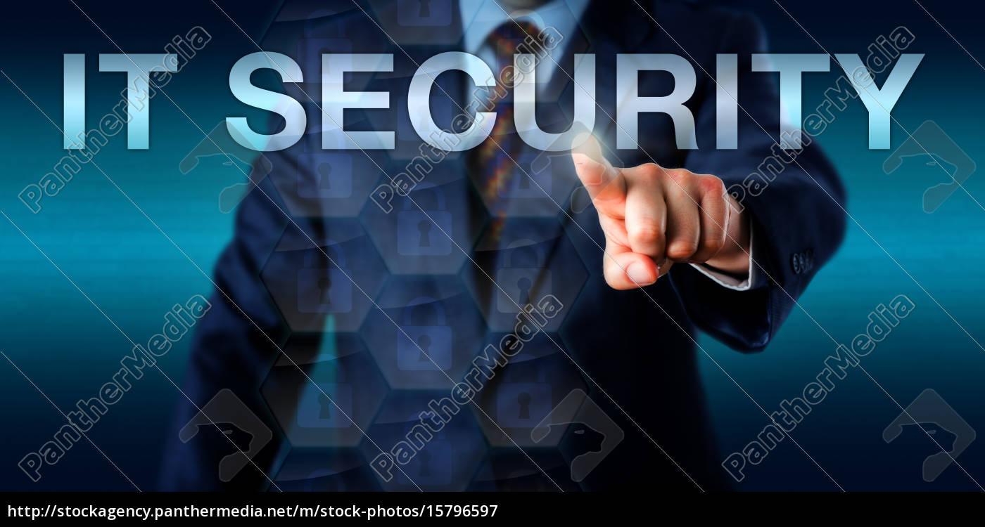 entrepreneur, pressing, it, security, onscreen - 15796597