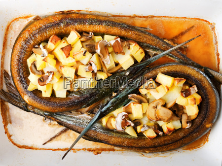 garfish, with, potatos, garfish, with, potatos, garfish, with - 15796851