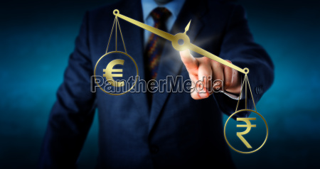 indian, rupee, outbalancing, the, euro, currency - 15796541