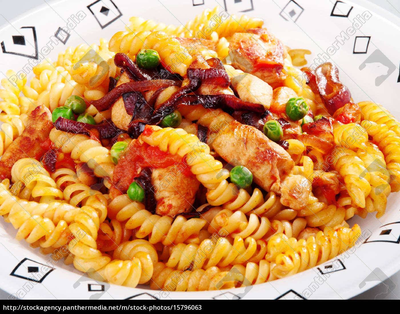 pasta, collection, -, fusilli, with, peas - 15796063
