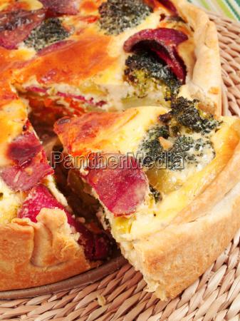 quiche, with, broccoli, and, ham, quiche, with - 15796085