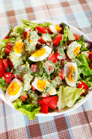summer, salad, with, tomatos, and, boiled - 15796647