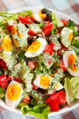 summer, salad, with, tomatos, and, boiled - 15796651