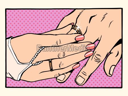 wedding, woman, man, gold, ring, betrothal - 15796053