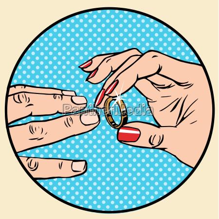 wedding, woman, man, gold, ring, betrothal - 15796057