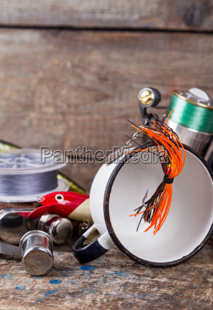 fishing, tackles, , baits, , line, with, flask, - 15797129