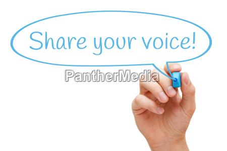 share, your, voice, speech, bubble, concept - 15797097
