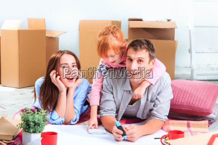 the, happy, family, , during, repair - 15797865