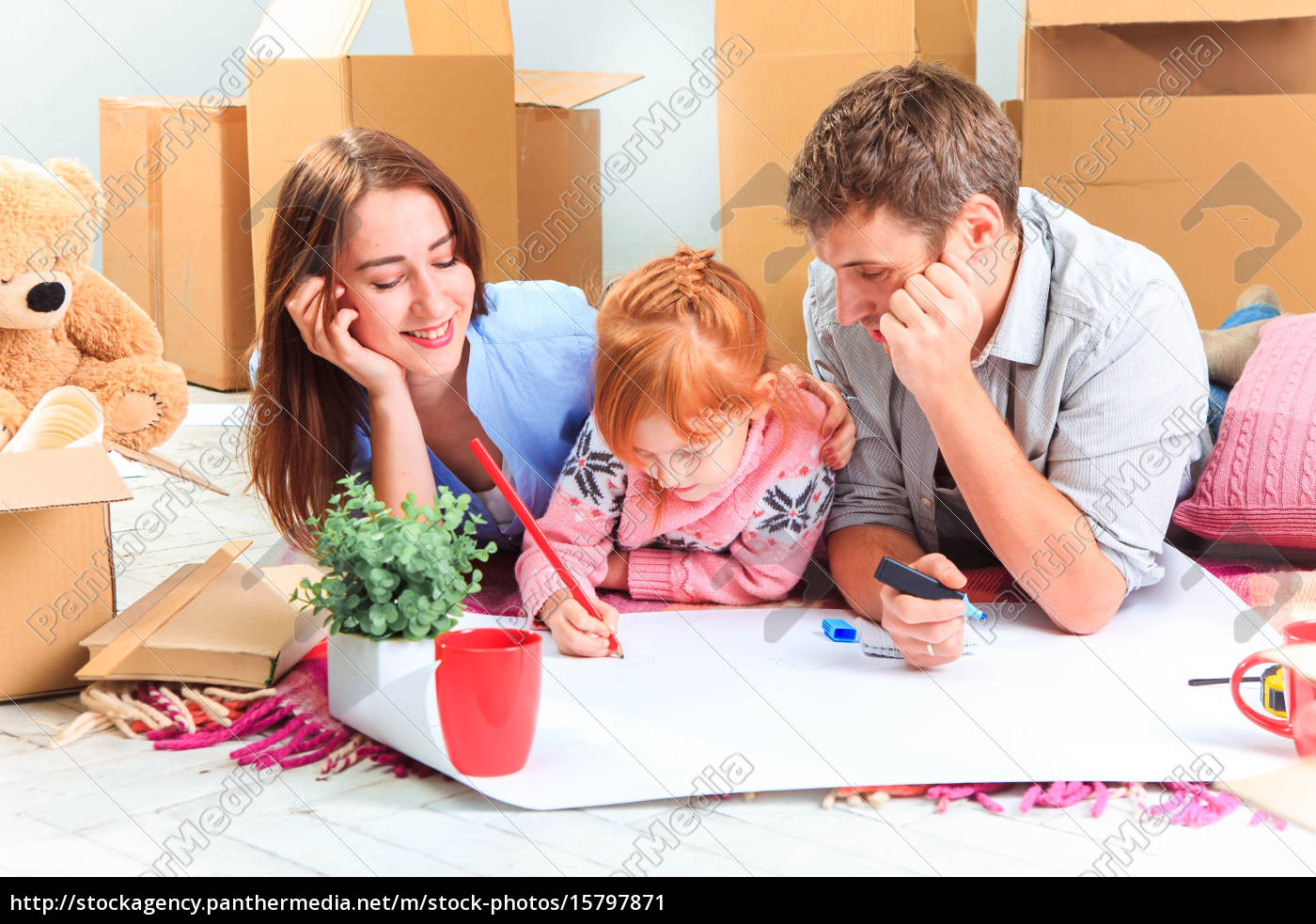 the, happy, family, , during, repair - 15797871