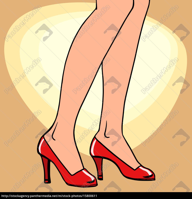 female, feet, in, shoes - 15800611