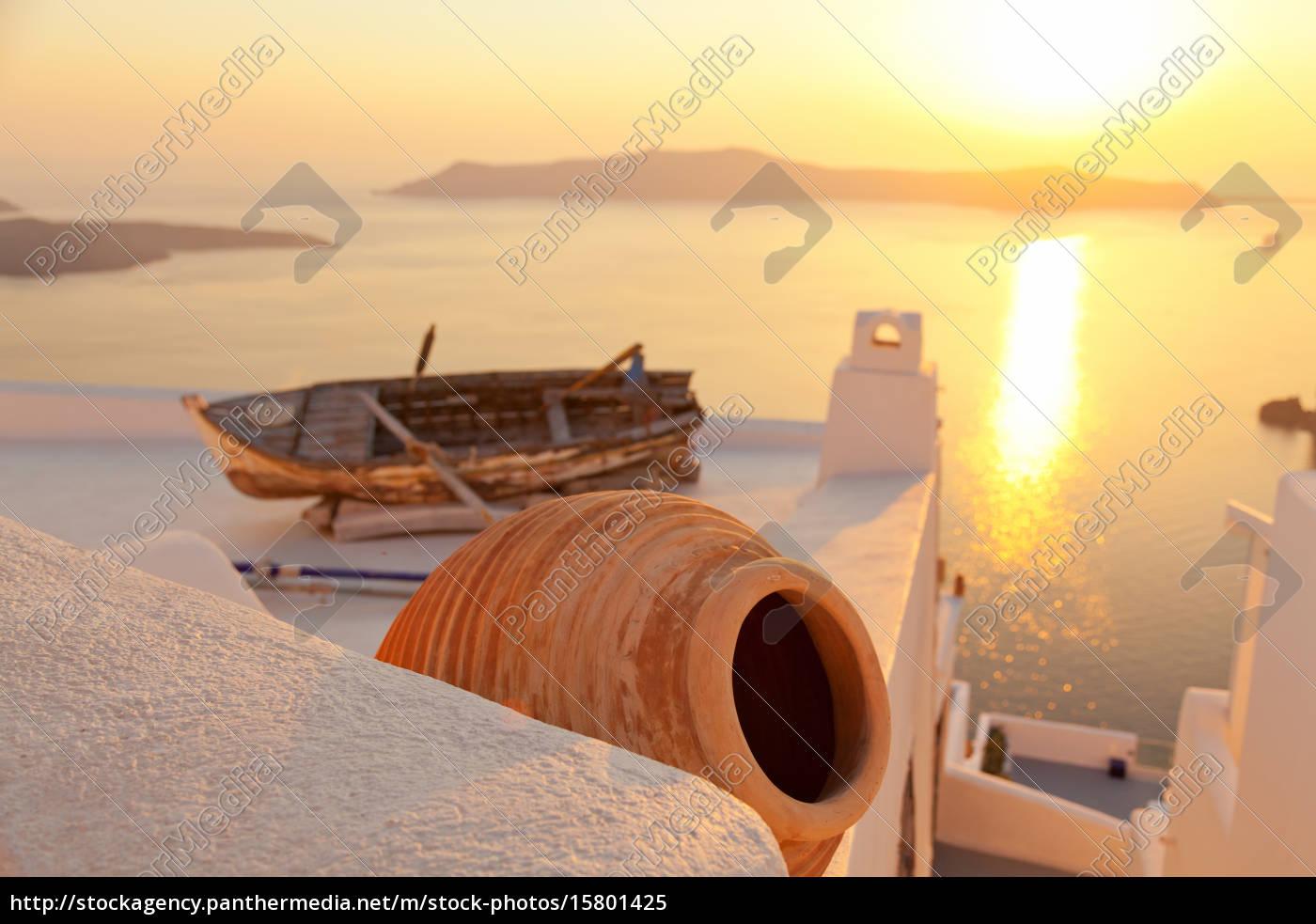 old, boat, in, firostefani, , santorini, old, boat - 15801425