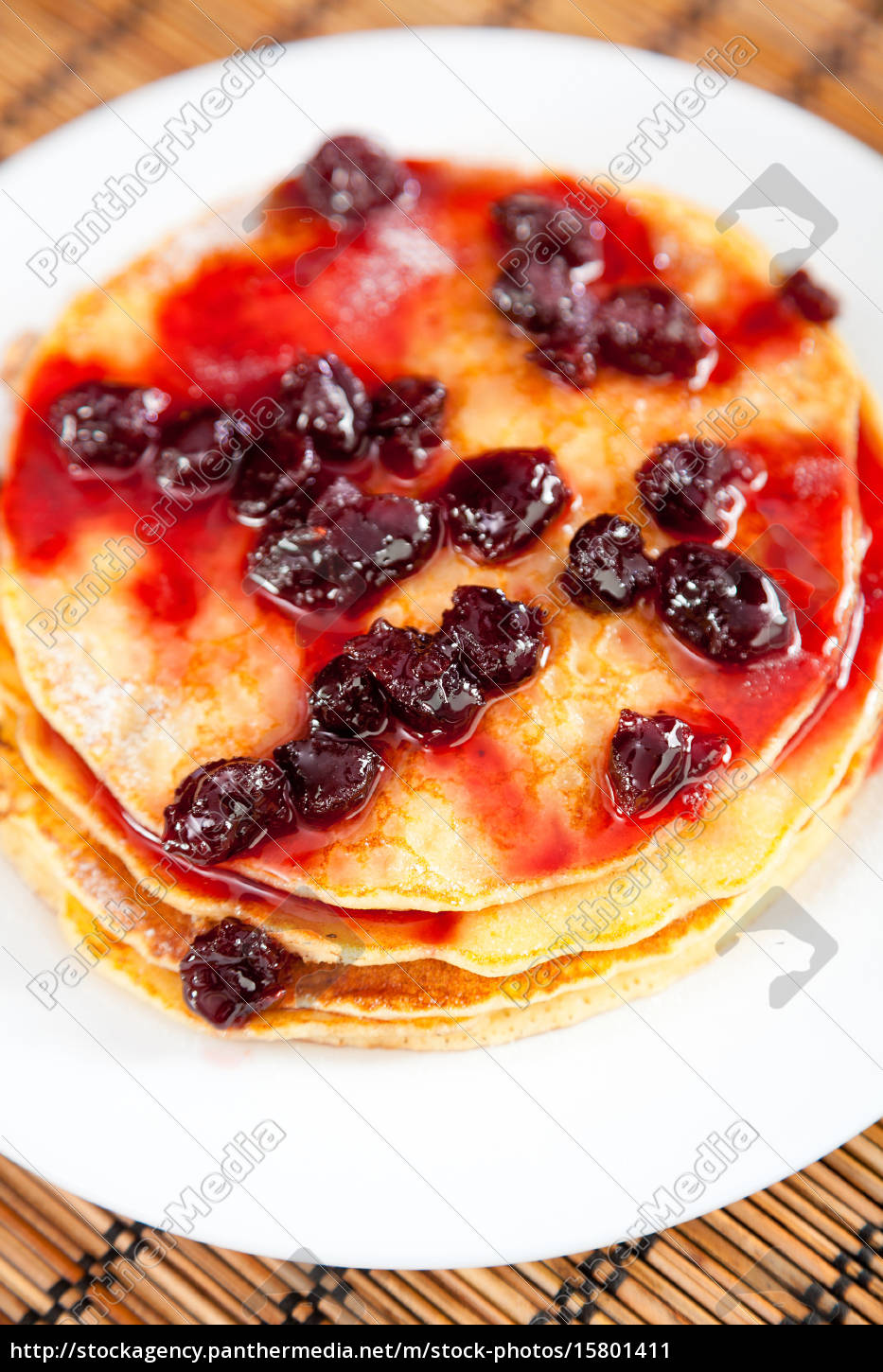 pancakes, with, blueberry, jam, pancakes, with, blueberry - 15801411