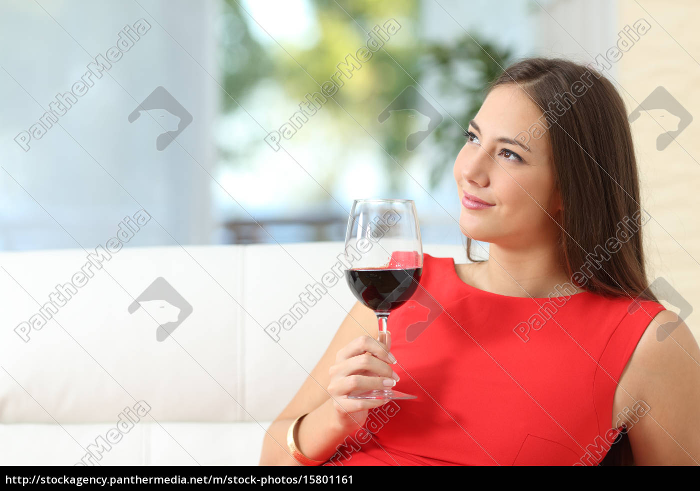 pensive, relaxed, woman, with, a, cup - 15801161