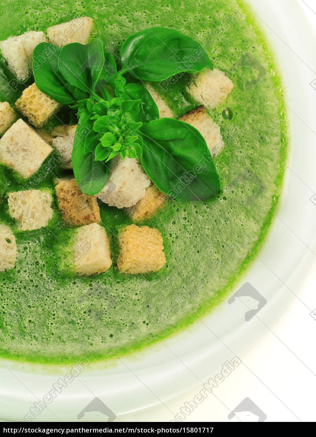 spinach, and, basil, soup - 15801717