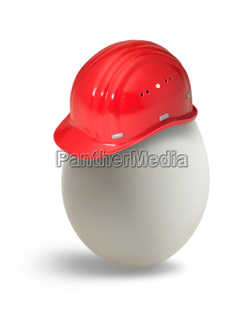 egg with hardhat