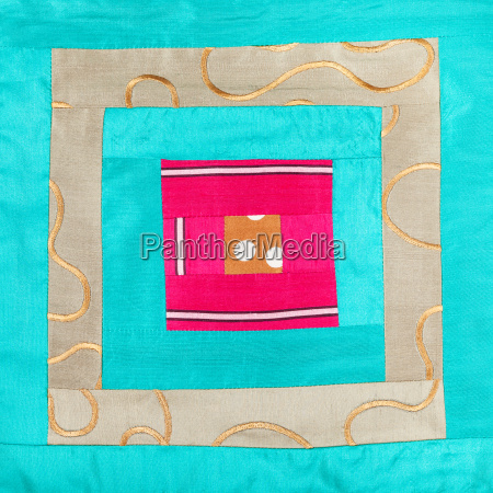 square decoration of patchwork cloth