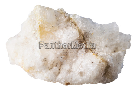 specimen of scheelite mineral stone isolated