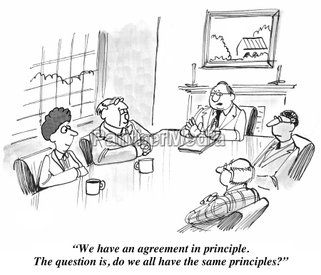 five people are in a meeting