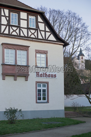 town hall in zwingenberg germany