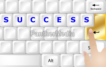 success concept pc keyboard