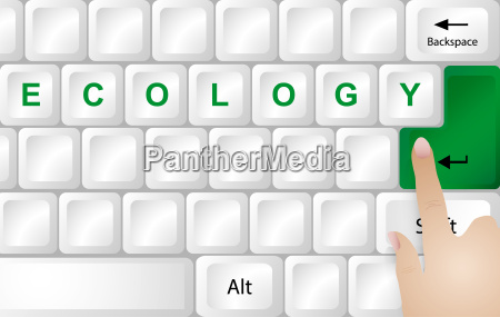 ecology concept keyboard