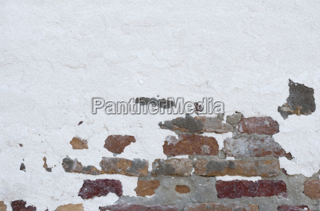 brick, wall, partially, plastered - 15823527