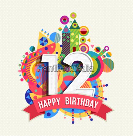 happy birthday 12 year greeting card