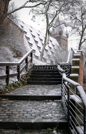 stairs to the nuremberg castle