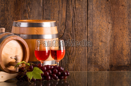 two glasses of rose wine with