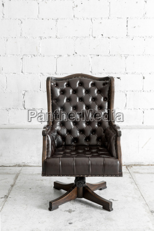 black chair in vintage room