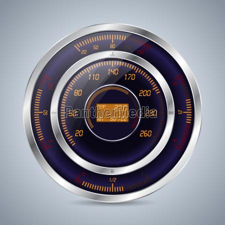 fully digital speedometer rev counter in