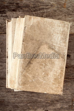 book with old canvas cover
