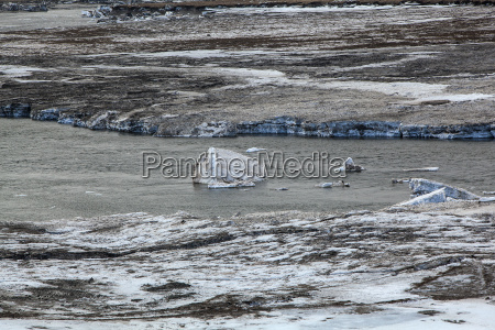 glacial ice float away on a