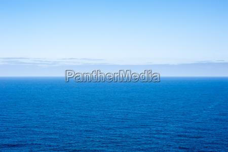 deep blue empty ocean seascape with