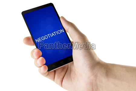 negotiation word on digital smart phone