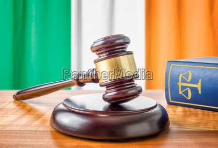 gavel and law book ireland