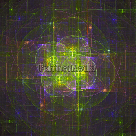 abstract magic energy multicolored fractal