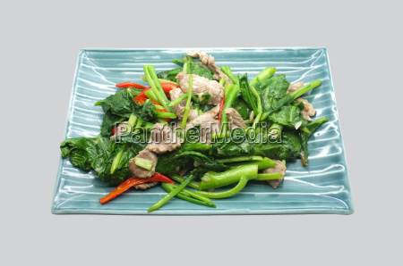 stir fry chinese kale cabbage with