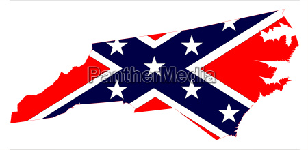 north carolina map and confederate flag