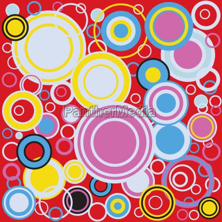 pop art colour circles