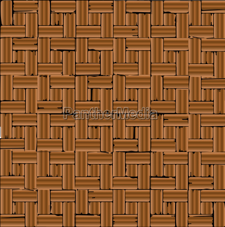 red brick parquet flooring