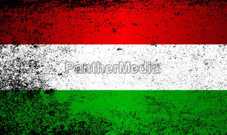 flag of hungary grunge