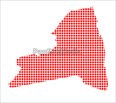 red dot map of new york