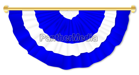 scottish blue and white bunting