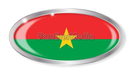 burkina faso flag oval button