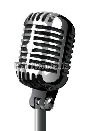 isolated stage mic