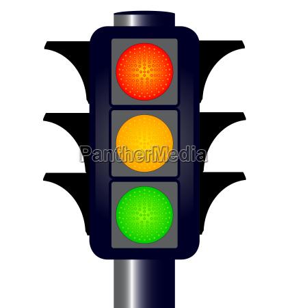 hooded traffic lights